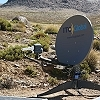 C-COM flyaway antenna deployed at high altitude in the Andes