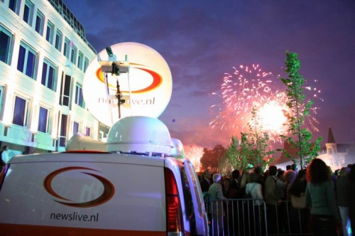 The Newslive SNG at the Grand Opening of the Breda Harbour in Holland