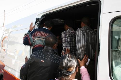 Class pays attention inside the van, yes all of them...!