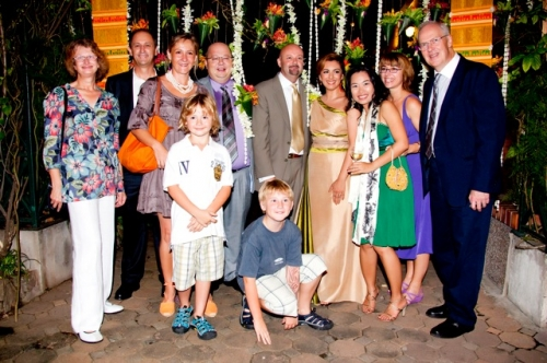 Former Reuters' colleagues including Julian and Anna Marija Rake and family, Sue Roblou (with husband Alan at the end), Mark Chisholm, Ellie Biles  and Ploy (from Reuters Bangkok office)