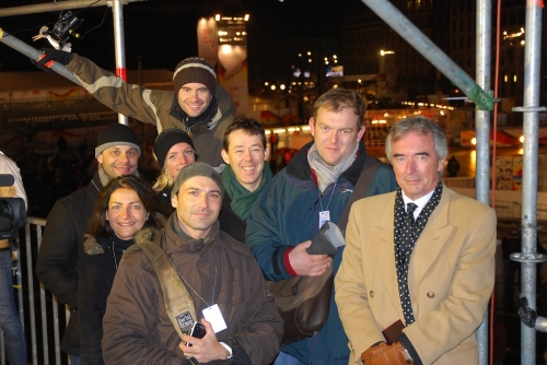 An incredibly busy night, but very special to be helping broadcast it to the world!  Well done crew - say cheese!