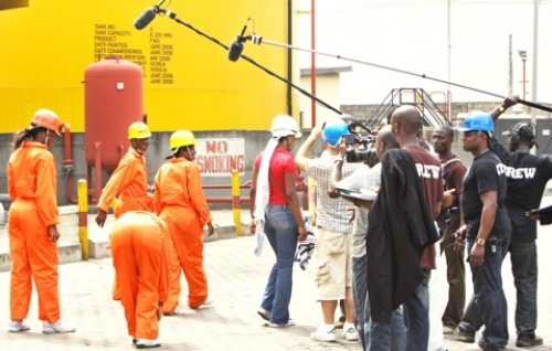 On the set - Apprentice Africa