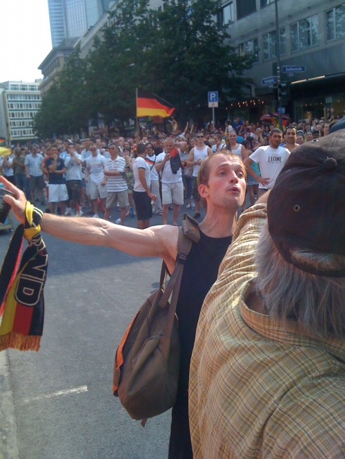 Crazy German fans getting a bit cheeky