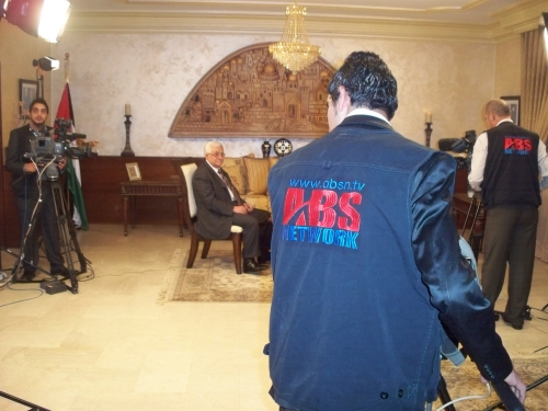 ABS Network covered a meeting with Mahmoud Abbas