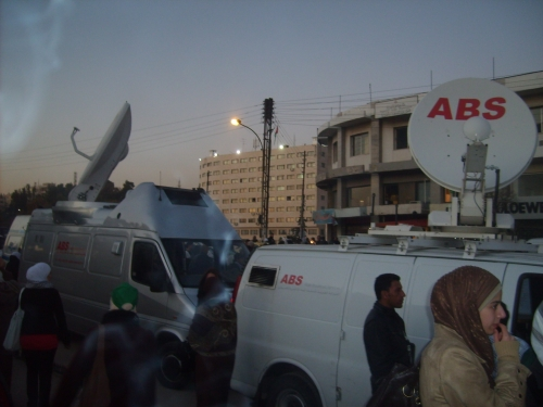 ABS Network's OB Vans covering a great event