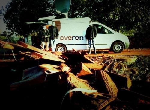 Overon crew in Kolontar Hungary