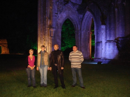 Nicolas Cage, Glastonbury Abbey at 3am for Jimmy Kimmel Live