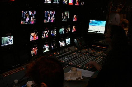 The OB room, for the 13 camera live operation