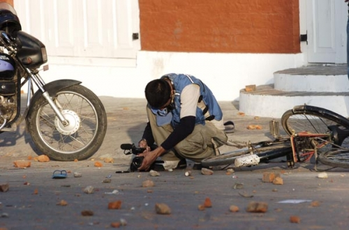 Shooting at Durbarmarg during Price Hike