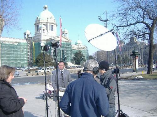 NHK live position in Belgrade