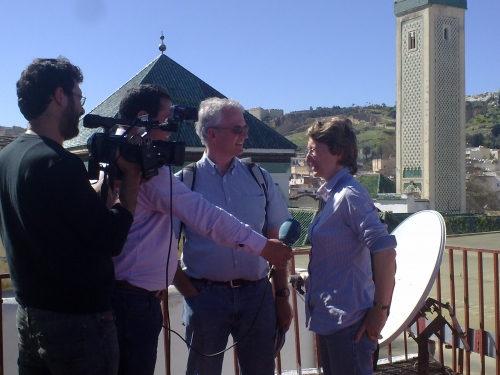 Coverage for Kuwait Television in the old city of Fez, Morocco