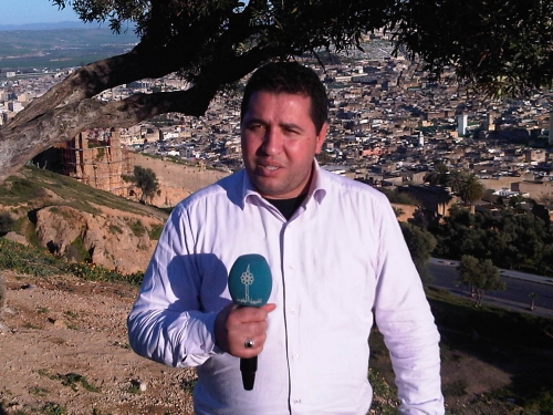 Kuwait TV correspondent in Morocco, during the preparation of the report of the Moroccan city of Fez