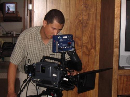 DP Jacques Star checking his shot
