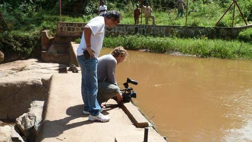 Faridoun Hemani and Scott Corben in Southern Rwanda on assignment with UNIDO on mini Hydro Power plants