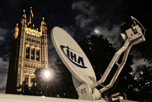 One of the IHA SNG's in front of the Westminster Abbey during the London riots in August 2011. Thanks to all of our partners for this successful operation!