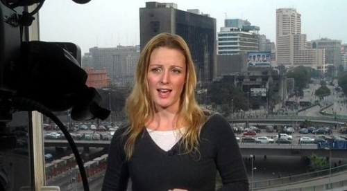 Natalie Carney (FSN) Live Shots for CCTV during Revolution in Egypt (02/11)