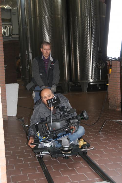 behind scenes of corporate video