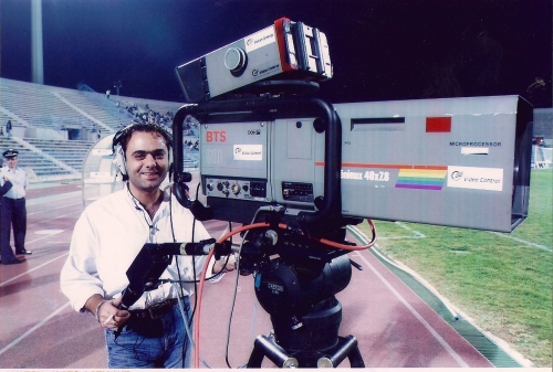 Working in sports (OB-van) 2004