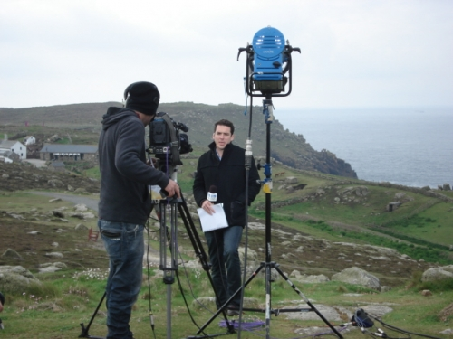 Live from Lands End into Channel Nine, Australia