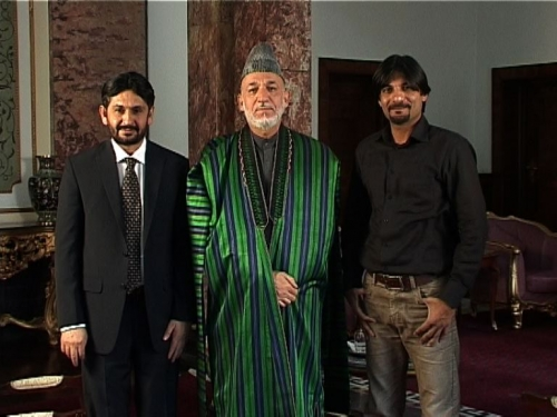 President Karzai's Interview in Kabul Afghanistan