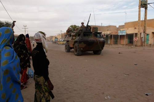 french troops patrolling in Timbuktu
