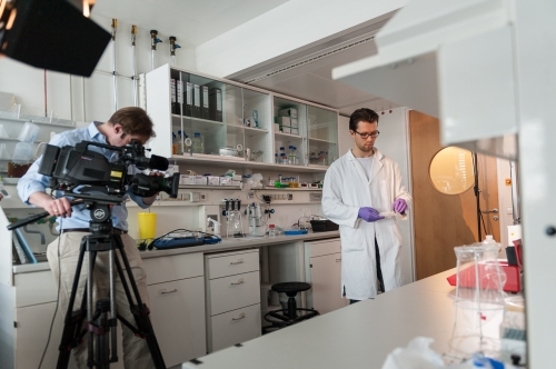 corporate shoot in a lab