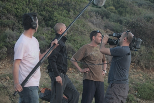 camera crew and divers