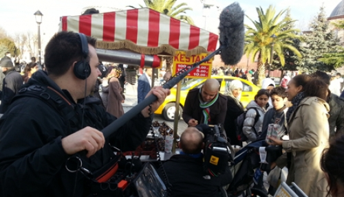 Filming in Sultanahmet