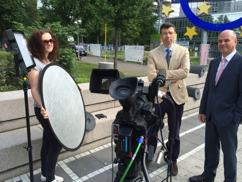 Bloomberg requested we use the portable uplink package LiveU for their recent coverage of the European Central Bank interest rates announcement. There aren't many of those 'portable SNGs' around but we've got LiveU-experienced crews and they spent all day broadcasting live pieces to camera and interviews. We broadcasted world wide all day without a hitch and can definitely recommend this system to all our colleagues.