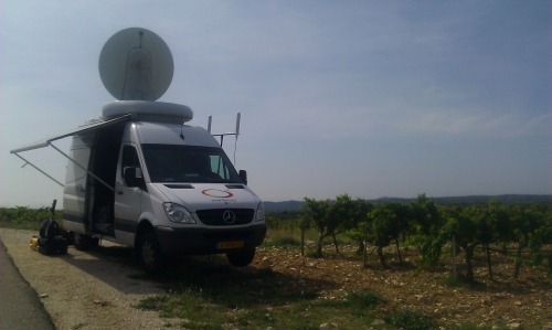 Live from the wine fields. Check out this HD wireless shot, hundreds of meters away from the truck: http://www.ctvnews.ca/video?clipId=419294