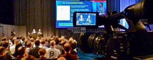 multi-camera congress coverage at Fira Barcelona, Spain