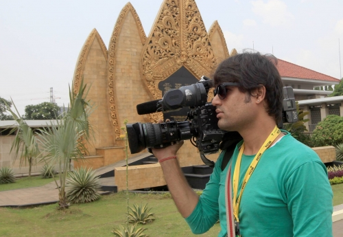 during shoot