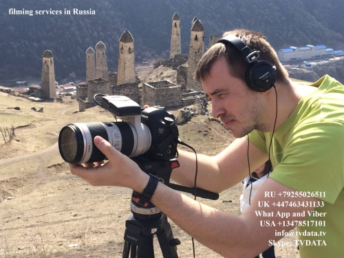 TVDATA.TV RUSSIAN camera crew filming for DISCOVERY channel. BEAUTY of INGUSHETIA - abundance of Fresh air, tranquillity, beautiful scenery, the lack of urban excitement and rush, historic towers and fortifications