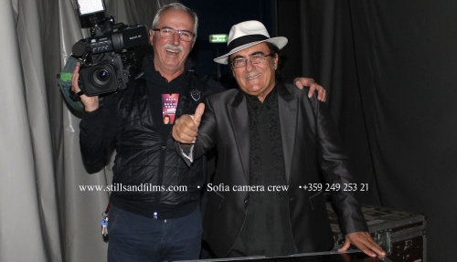Stills & Films' cameraman from Sofia with singer AlBano