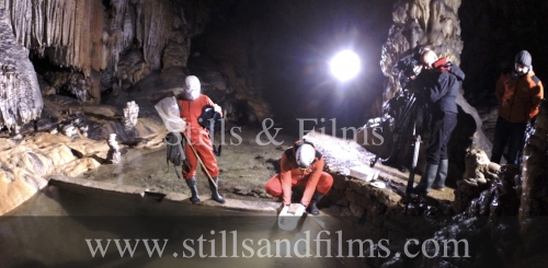 Filming scientists in the amazing Postojna caves for Discovery Channel