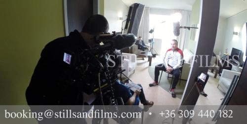 Interviewing Bernd Storck for FIFA TV