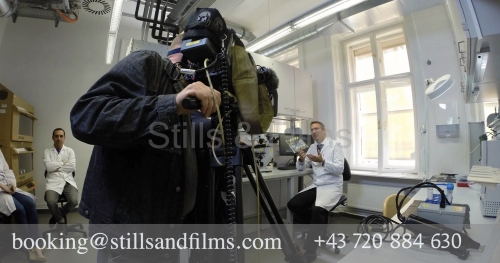Filming at TU Vienna for an Italian client