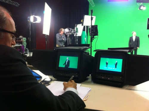 Yet another corporate green screen with Teleprompter with our local lads in Munich…