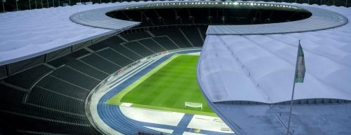 movik media, aerial drone shot, olymipic stadium