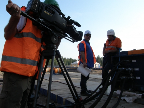 Filming industrial site northern  Russia for a Scandinavian client  Contact us anytime:  +447922274952 What's ap / Viber