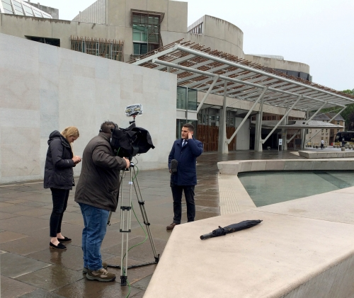 ITV News (ITN) Election Special with Scottish Correspondent, Peter Smith.