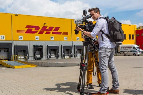 We regularly shoot corporate films for DHL in Bonn. Our trusted crews always come from nearby Cologne shooting on the ever so popular Sony FS7.