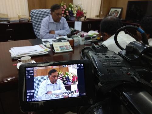 Live telecast with Home Minister, Secretariat, Dhaka, Bangladesh