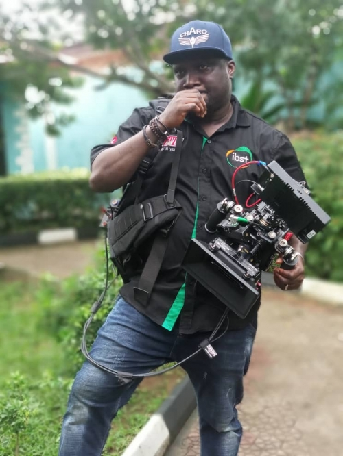 DOP Segun Oladimeji on location