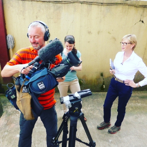 Working with ITN News Team
