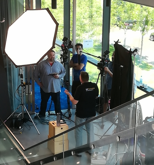 Another successful shoot in Walldorf shooting for SAP with a big crew and multiple cameras.