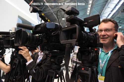 TVDATA Media Presents our Experienced Cameraman in St.Peterburg, Russia