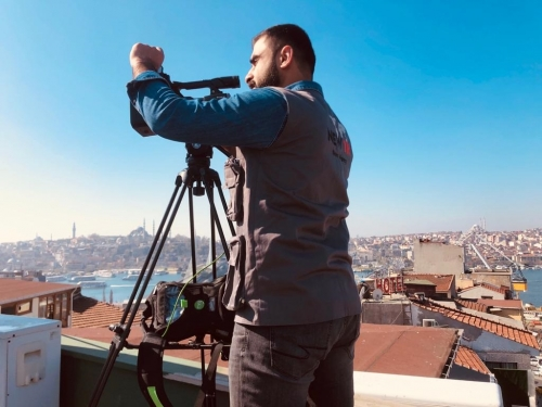 New TR cameraman is on live with TVU 5G ready system in Istanbul. Cellular network in Turkey is 4.5G currently and it gives incredibly fast and reliable streaming