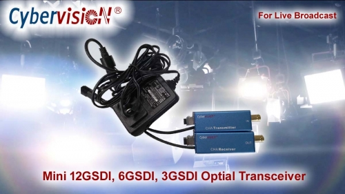 Mini 12G-SDI, 6G-SDI, 3G-SDI Optical Transceiver