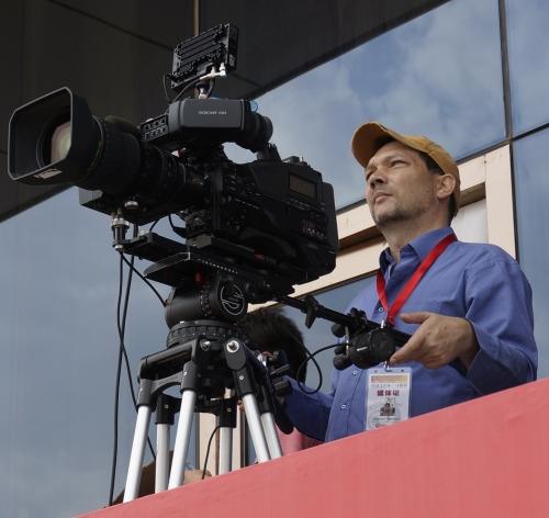 Broadcasting CHIA Horse Race in Xinjiang